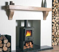Image result for oak shelf above fireplace