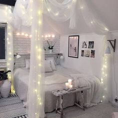 45 romantic and elegant bedroom decor ideas you will love 36 Girl Bedroom Designs, Room Ideas Bedroom, Home Decor Bedroom, Diy Bedroom, Large Bedroom, Bed Room, Master Bedroom, Cute Room Decor, Aesthetic Room Decor