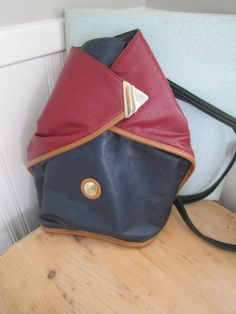 Vintage Alfred Sung Leather Multi Colour Leather Back Pack Purse