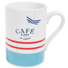 Blue Red White Mug