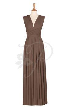 Bridesmaid Dress Infinity Dress Russet Brown Knee Length Wrap ...