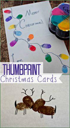 Thumbprint Christmas Cards - Christmas in July : Upstate Ramblings