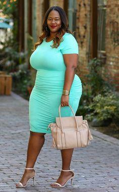 Stylish Plus-Size Fashion Ideas – Designer Fashion Tips Looks Plus Size, Curvy Plus Size, Moda Plus Size, Plus Size Girls, Plus Size Fashion For Women, Plus Size Womens Clothing, Clothes For Women, Size Clothing, Big Girl Clothes
