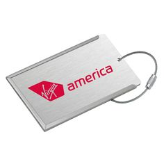 Virgin America luggage tags available for $6.99 in the Swag Shop.
