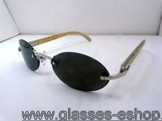 be136395a7 Cartier 5124018 Yellow Buffalo Sunglasses Silver with Dark lens