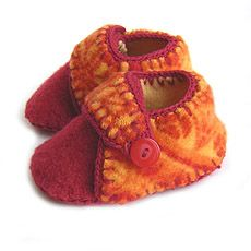 Felted Baby Shoe  - COFFEELADY
