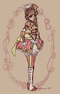 My version of Beauty, from Beauty and the Beast to be added to my Steampunk Fairytales group <3