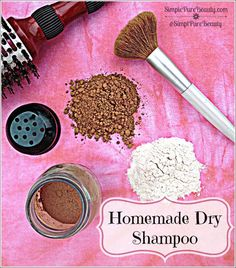 Homemade Dry Shampoo for Blonds and Brunettes