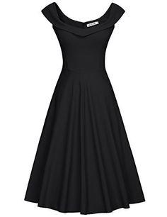 MUXXN MUXXN Damen 1950er Boot-Ausschnitt Muster Hanhnentritt Party Swing  Kleid(S, Pink Rose) Kleider  Amazon.de  Bekleidung 093bd8ec77