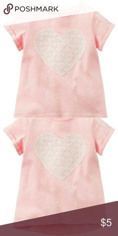 Lace Heart Tee Lace Heart Tee Carter's Shirts & Tops Tees - Short Sleeve
