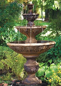 Why You Should Invest In Simple Water Features For Your Home Garden – Pool Landscape Ideas Water Wall Fountain, Backyard Water Fountains, Water Fountain Design, Outdoor Fountains, Fountain Garden, Concrete Fountains, Fountain Ideas, Pool Fountain, Modern Garden Design