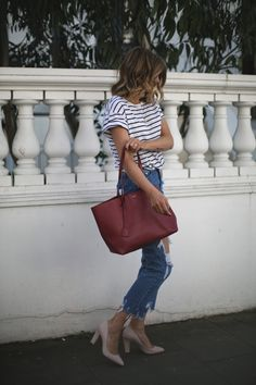 When I say I love ripped denim I'm not joking (see exhibit A: this post). 'Where's the rest of your jeans? Winter Outfits, Cool Outfits, Summer Outfits, Casual Outfits, Fashion Outfits, Ysl Tote Bag, Aesthetic Fashion, Aesthetic Style, Destroyed Jeans
