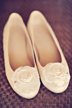Chanel wedding flats   @tamizphoto   Brides.com