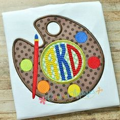 Paint Palette Applique - 4 Sizes! | What's New | Machine Embroidery Designs | SWAKembroidery.com Creative Appliques