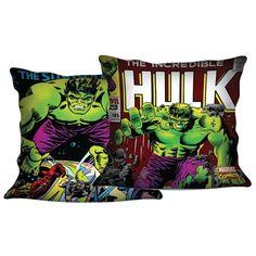 Almofada Hulk em Ação, tecido em veludo com 40 cm x 40 cm