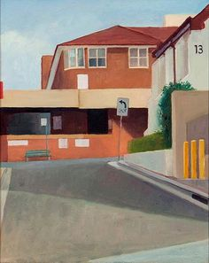 Kevin McKay  St George Hospital Study 5 2014  plein air - oil on linen canvas board 25.5 x 20.5cm