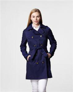 London Fog Angela Trench Coat in Ultra Marine $99.99