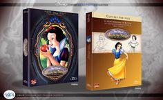 Concept de collection Blu Ray prestige Disney avec fourreau et Digibook : Blanche-Neige et les Sept Nains ( Snow White and the Seven Dwarfs ) Blu Ray, Walt Disney, Snow White, Concept, Baseball Cards, Website, Film, Books, Libros
