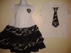 Raiders & 49ers Dresses  $ 25 And  T-Shirts $ 10  www.facebook.com/nanassewingcreations