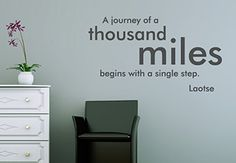 Wall Sticker Quote - A journey of a thousand miles. Laotse