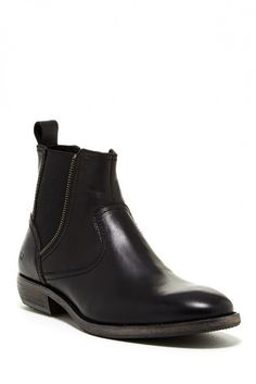 $248, Black Leather Chelsea Boots: Andrew Marc New York Andrew Marc Chelsea Zip Boot. Sold by Nordstrom Rack. Click for more info: https://lookastic.com/men/shop_items/69433/redirect
