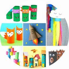 Retrouvez plus de 80 idées de bricolages pour enfants à fabriquer avec des rouleaux de papier toilette. Personnages favoris, animaux, véhicules, jeux de motricité et bien plus ! Montessori, Origami, Childhood, Activities, Outdoor Decor, Education, Kids, Paper, Crafts