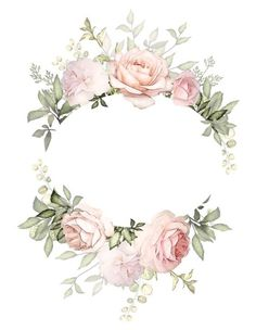 Фотография Floral Logo, Watercolor Flowers, Watercolor Paintings, Boarders, Cute Wallpapers, Wallpaper Backgrounds, Invitation Cards, Wedding Invitations, Floral Border