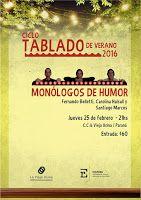 Ciclo Tablado de Verano - MONOLOGOS DE HUMOR
