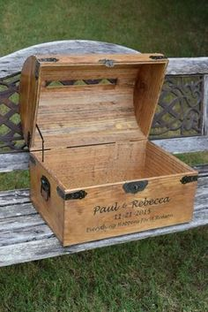Extra Large Personalized Wedding Card Box - Lockable with Card Slit