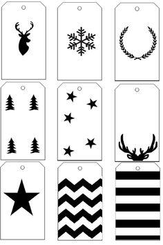 Christmas Labels, Christmas Printables, Christmas Art, Christmas Decorations, Xmas, Diy Halloween, Halloween Cards, Wood Tags, Theme Noel