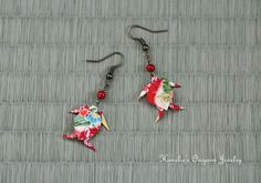 Japanese Origami Jewelry  Origami Sea Turtle by KumikosOrigami