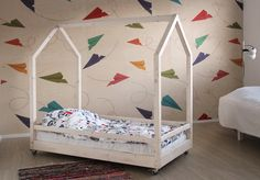 Inspiration For Kids, My Dream Home, Toddler Bed, Kids Room, Furniture Design, Room Decor, Ideas, Bebe, Child Bed