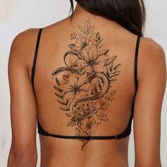 Thigh Tattoo Men, Girl Thigh Tattoos, Girl Back Tattoos, Back Tats, Tattoo On Back, Girl Stomach Tattoos, Wrist Tattoo, Female Back Tattoos, Middle Of Back Tattoo