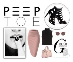 """""""Peep toes"""" by lenaick ❤ liked on Polyvore featuring Elizabeth and James, Dasein and Christian Dior"""