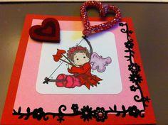 """carte faite pour la Saint Valentin pour le forum des """"Petites Fées"""""""