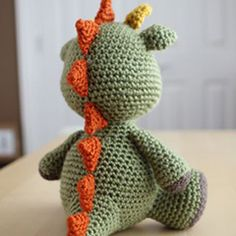 Spike the Dragon amigurumi by Little Muggles