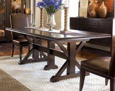 black trestle dining table