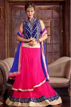 Pink Color Designer Bridal Lehnga Choli From Hdbazaar. Net Lehenga, Bridal Lehenga Choli, Anarkali, Western Dresses Online, Bridal Lehenga Online, Indian Bridal Wear, Buy Sarees Online, Saree Dress, Occasion Wear