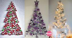 arboles navideños sobre pared