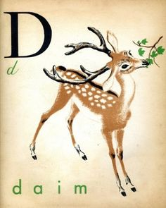 i love these vintage letters with animals.  maybe I can find a few.