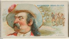 """Alexander, Bras de Fer, in Ambush, from the """"Pirates of the Spanish Main"""" series (N19), for Allen & Ginter Brand Cigarettes, c1888."""