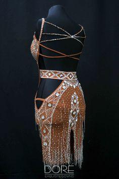 Doré Designs | Nude Latin Crystal AB Design & Stoned Belt