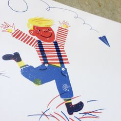 Image of Flieger-Junge, Postkarte A6, #annewenkelshop #illustration