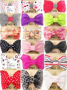 Set of 3 Bow Bandeau Bikini Top, Choose Your Bow Bandeaus, NO:1 to 31 on Etsy, $39.00