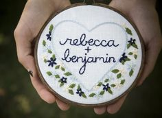 Custom Embroidered Wedding Bouquet - In your wedding colors