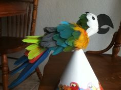 The parrot tree topper I made for our Yule Tree this year