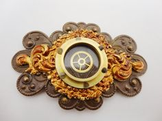 Steampunk Pin Porthole with Gear Brass by DrBrassysSteampunk, $22.00