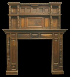 Antique Victorian oak fire surround with pillars.
