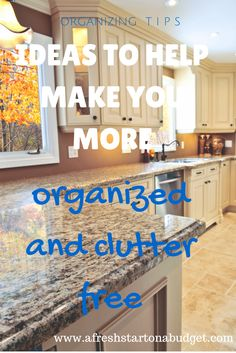 a round up of 20 amazing articles on how to be more organized and clutter free with simple organization ideas