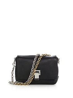 1290$ Proenza Schouler - PS1 Courier Tiny Double-Chain Leather Crossbody Bag